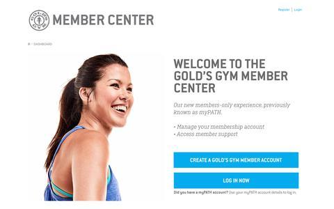 Gold's Gym Member Center