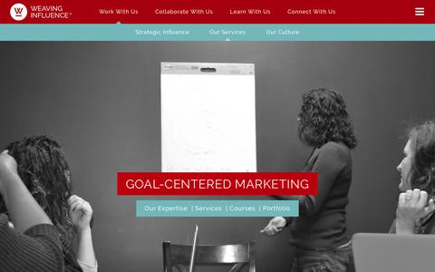 Screenshot of Services Page weavinginfluence.com - Weaving Influence | Digital Marketing Agency | Our Services - captured Oct. 19, 2017