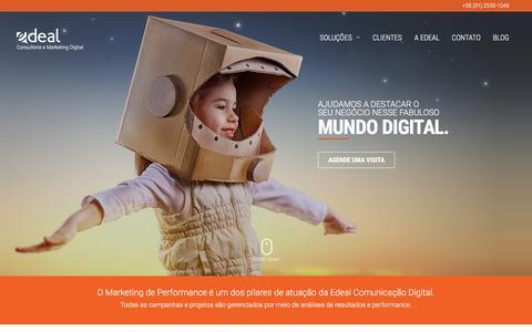 Screenshot of Home Page edeal.com.br - Edeal Comunicação Digital - Marketing Digital BH - captured Jan. 26, 2016