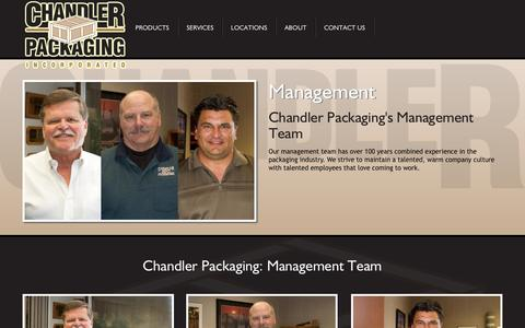 Screenshot of Team Page chanpack.com - About Chandler Packaging: Management Team - captured Oct. 2, 2014