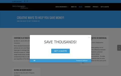 Screenshot of Blog bocains.com - BLOG | Boca Insurance Advisers - captured Feb. 6, 2016