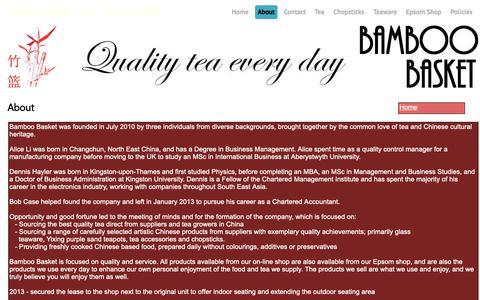 Screenshot of About Page bamboo-basket.co.uk - About - Bamboo Basket Ltd. - captured Nov. 28, 2018