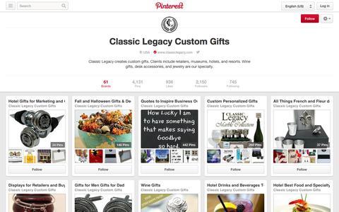 Screenshot of Pinterest Page pinterest.com - Classic Legacy Custom Gifts on Pinterest - captured Nov. 2, 2014