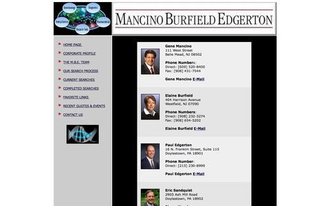 Screenshot of Contact Page mbels.com - Mancino Burfield Edgerton Life Science Contact Information - captured Feb. 4, 2016