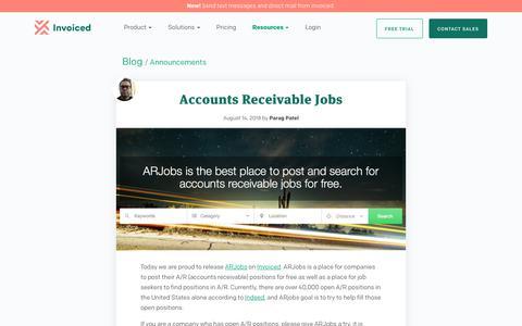 Screenshot of Blog invoiced.com - Accounts Receivable Jobs - captured Dec. 10, 2018