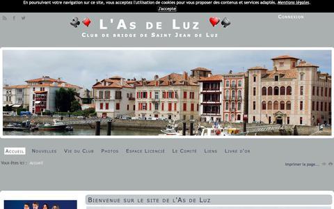 Screenshot of Home Page as-de-luz.fr - le site de l'As de Luz - captured Oct. 29, 2018