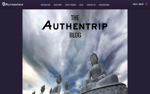 Screenshot of Blog authentrip.com - Authentrip Blog - captured May 31, 2017