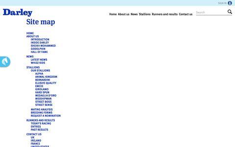 Screenshot of Site Map Page darleyamerica.com - Site map   America - captured Nov. 23, 2016