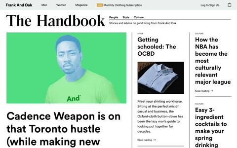 The Handbook: Stories & Fashion Advice From Frank And Oak   Frank And Oak