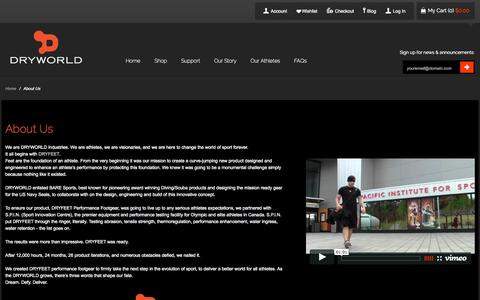 Screenshot of About Page dryworldindustries.com - About Us - captured Sept. 30, 2014