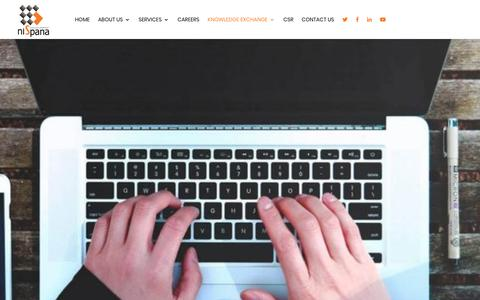 Screenshot of Blog nispana.com - Blog - Nispana Innovative Platforms - captured Oct. 18, 2018