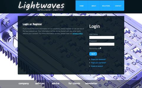 Screenshot of Login Page lightwaves.nl - Lightwaves - Login - captured Oct. 2, 2014