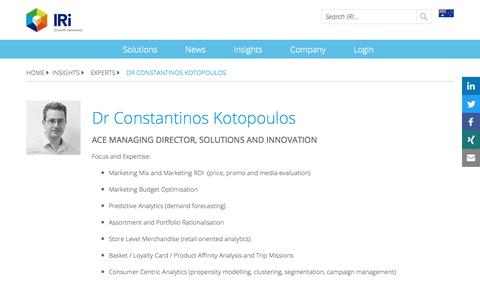 Screenshot of Blog iriworldwide.com - Dr Constantinos Kotopoulos - IRI - captured Jan. 6, 2020