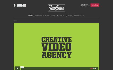 Screenshot of Home Page tellyjuice.com - TellyJuice Video Production Company London - captured Jan. 10, 2016