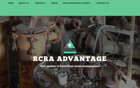 Screenshot of Services Page rcra-advantage.com - Services – RCRA Advantage - captured June 18, 2017
