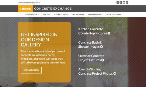 Screenshot of Home Page concreteexchange.com - Concrete Countertops - How To, Ideas & Design | CHENG Concrete Exchange - captured Jan. 18, 2016