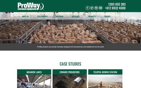 Screenshot of Case Studies Page proway.com.au - Case Studies | Proway - captured Oct. 31, 2018