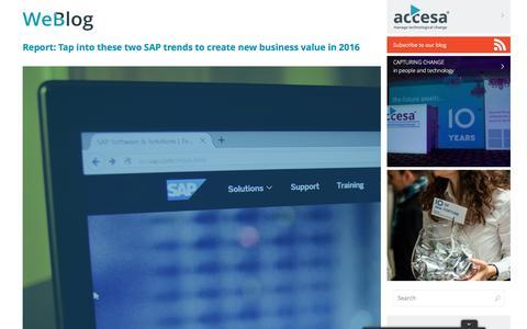 Screenshot of Blog accesa.eu - Blog   Accesa   Manage Technological Change - captured Feb. 6, 2016