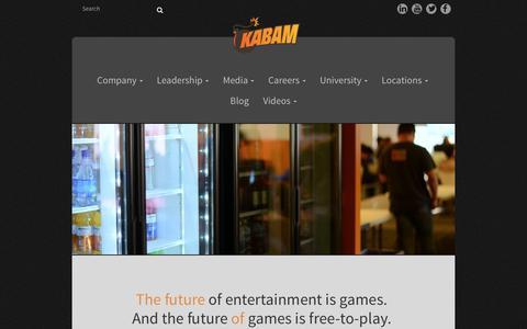 Screenshot of Jobs Page kabam.com - Careers | - captured Feb. 2, 2016