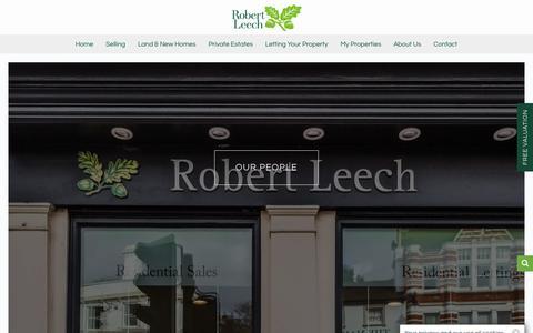 Screenshot of Team Page robertleech.com - People - Robert Leech - captured Sept. 25, 2018