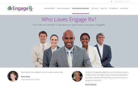 Screenshot of Testimonials Page engagerx.org - Testimonials | Engage RxEngage Rx - captured Oct. 2, 2014