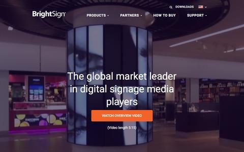 Screenshot of Home Page brightsign.biz - BrightSign :: Home - captured March 15, 2016