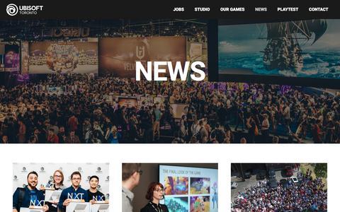 Screenshot of Press Page ubisoft.com - NEWS - Ubisoft Toronto - captured Nov. 8, 2019