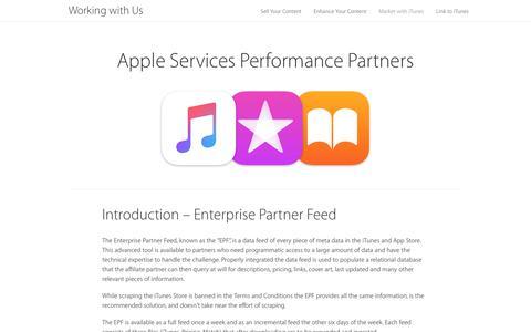 Screenshot of Blog apple.com - Introduction – Enterprise Partner Feed – Partner Resources - captured Nov. 8, 2019