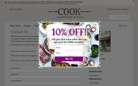 Screenshot of Contact Page cookfood.net - Contact COOK              | COOK - captured Oct. 29, 2015
