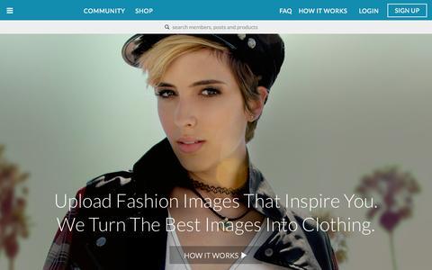 Screenshot of Home Page dahliawolf.com - DahliaWolf Collectively inspiring fashion - captured Nov. 10, 2015