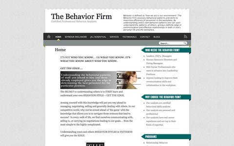 Screenshot of Home Page thebehaviorfirm.com - The Behavior Firm - captured Nov. 16, 2017