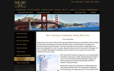 Alexander Valley Wine Tours from San Francisco by Limousine
