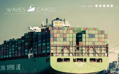 Screenshot of Home Page wavescargo.com - Waves Cargo - captured Jan. 13, 2016
