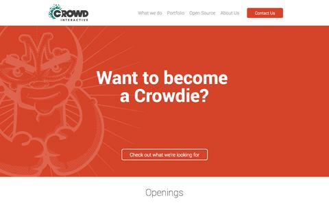 Screenshot of Jobs Page crowdint.com - Crowd Interactive | Leading eCommerce consultancy firm - captured Sept. 23, 2014