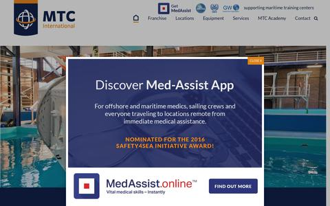 Screenshot of Home Page mtc-int.net - MTC International | OPITO offshore training program - captured Nov. 18, 2016