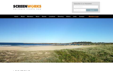 Screenshot of Locations Page screenworks.com.au - Locations - Screenworks : Screenworks - captured Nov. 14, 2017