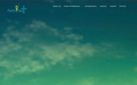 Screenshot of Home Page faith-fest.com - Faith Fest | Unity In The Community - captured Jan. 13, 2016