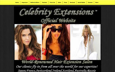 Screenshot of Home Page celebrityextensions.com - Celebrity Extensions | Best Hair Extensions | Hair Extensions - captured Oct. 2, 2014