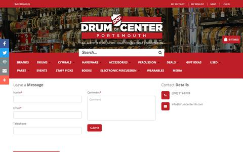 Screenshot of Contact Page drumcenternh.com - Contact Us | Drum Center of Portsmouth - captured Oct. 13, 2017