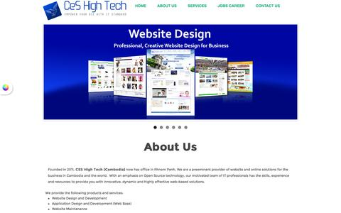 Screenshot of About Page ceshightech.com - Web Design - Web Development - Application Development - IT Solution - Network Solution - CEShightech.com | About Website Design Specialist in Cambodia - captured Sept. 26, 2014