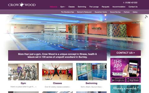 Screenshot of Home Page crowwood.com - Crow Wood - Health, Fitness & Leisure Gym - Burnley - captured Feb. 1, 2016