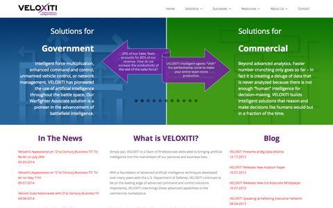 Screenshot of Products Page veloxiti.com - Veloxiti, Inc. - captured Oct. 7, 2014