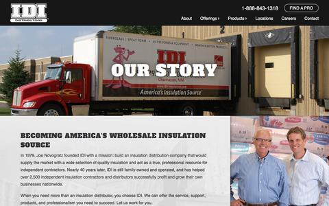 Screenshot of About Page idi-insulation.com - About Us   IDI Distributors - captured Feb. 2, 2016