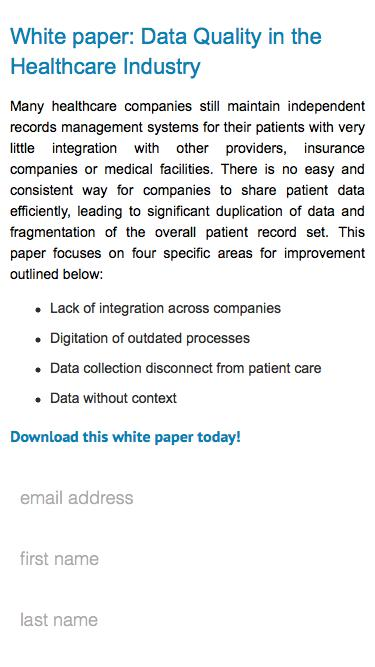 Data Quality in the Healthcare Industry