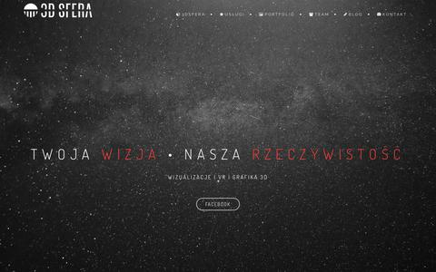 Screenshot of Home Page 3dsfera.pl - 3DSFERA - interaktywne wizualizacje architektoniczne - captured Feb. 14, 2016