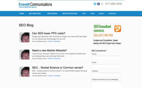 Screenshot of Blog seocodeanalyst.com - SEO | Search Engine Optimization Consultant - captured Jan. 31, 2016