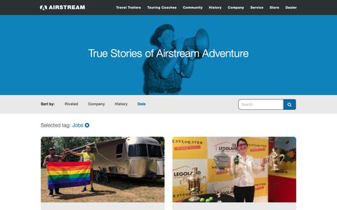 Screenshot of Jobs Page airstream.com - Jobs Archives | Airstream - captured Nov. 8, 2017