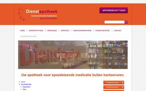 Screenshot of Site Map Page dienstapotheek-gooi.nl - Sitemap - Dienstapotheek - captured Oct. 1, 2014