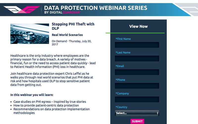 Stopping PHI Theft with DLP