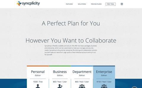 Enterprise & Small Business Pricing | Syncplicity